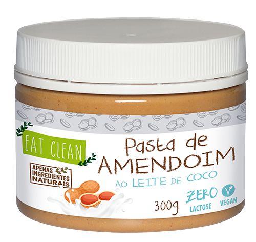 Pasta de Amendoim ao Leite de Coco com Xylitol  Eat Clean Pote 300g
