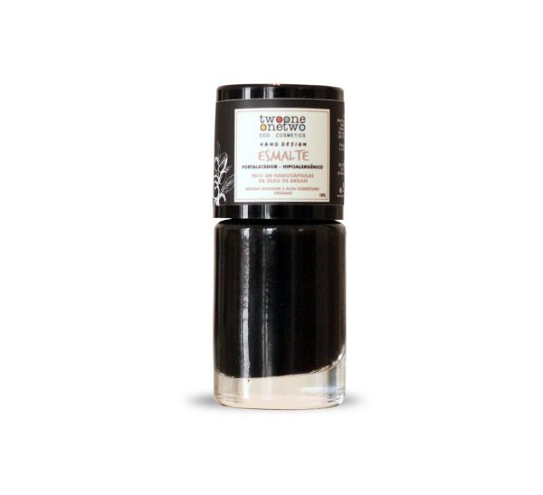 625 - Esmalte Hipoalergênico Fortalecedor Twoone Onetwo 10ml Black Onyx