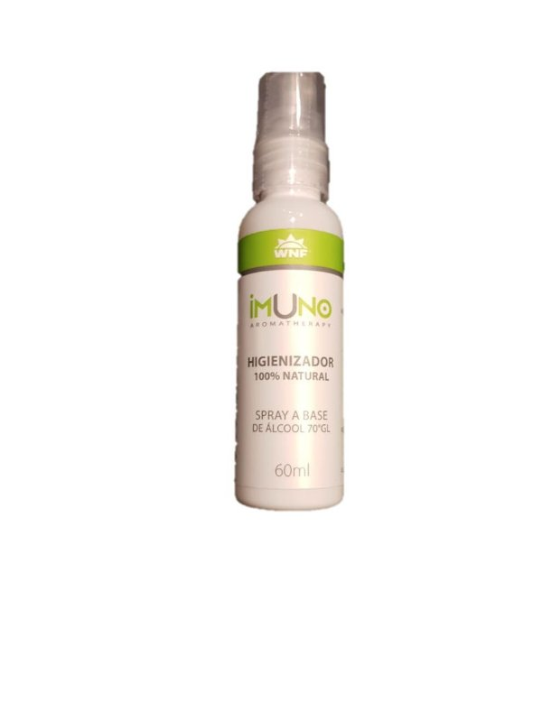 Aromatherapy WNF - Imuno Higienizador 100% Natural Spray a base de Álcool 70% - 60ml