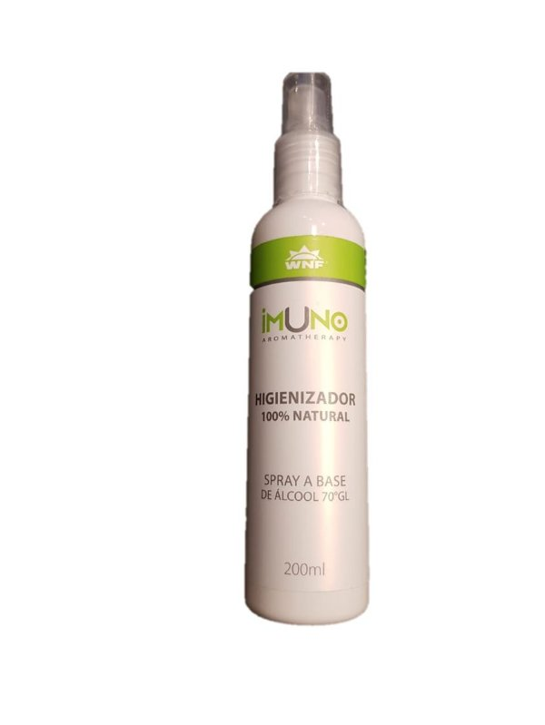 Aromatherapy WNF - Imuno Higienizador 100% Natural Spray a base de Álcool 70% - 200ml