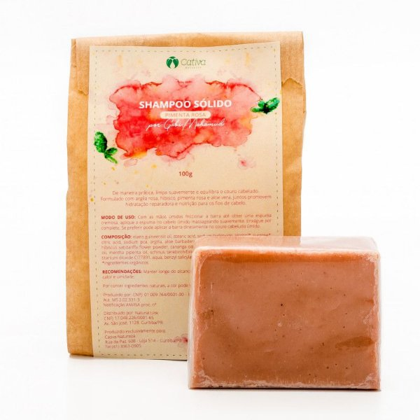 Shampoo Sólido Pimenta Rosa 100G