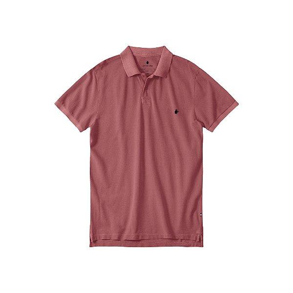 Camisa Polo Masculina Estonada Basis Stone - Bordo