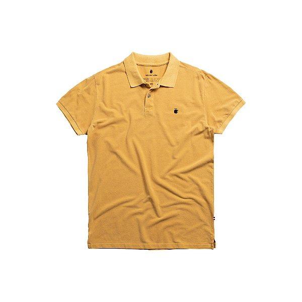 Camisa Polo Masculina Estonada Basis Stone - Mostarda