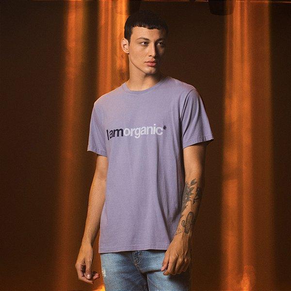 Camiseta de Tingimento Natural I Am Organic - Azul
