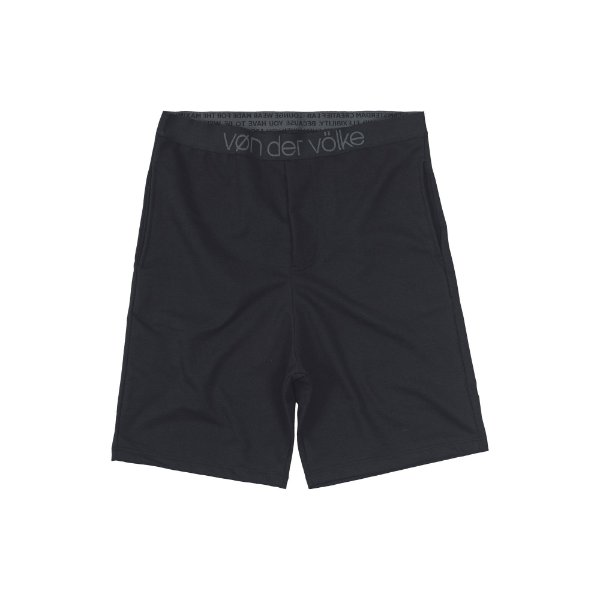 Bermuda Masculina de Moletinho Loungewear Kap Lounge - Preto