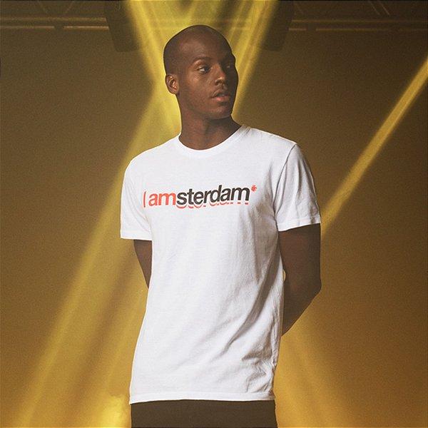 Camiseta Masculina Manga Curta I AMsterdam - Branco