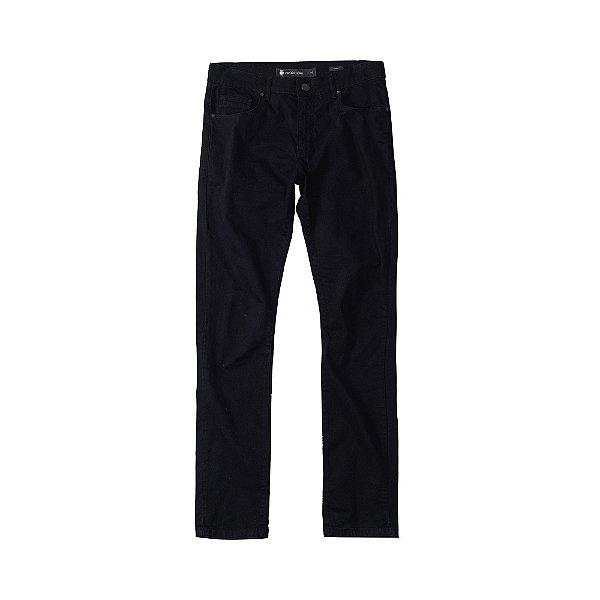 Calça de Sarja Masculina Skinny 5 Pockets Sarja Color - Preto