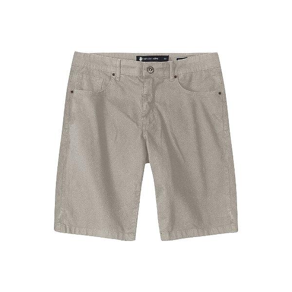 Bermuda de Sarja Color com Elastano Masculina Five Pocket - Caqui