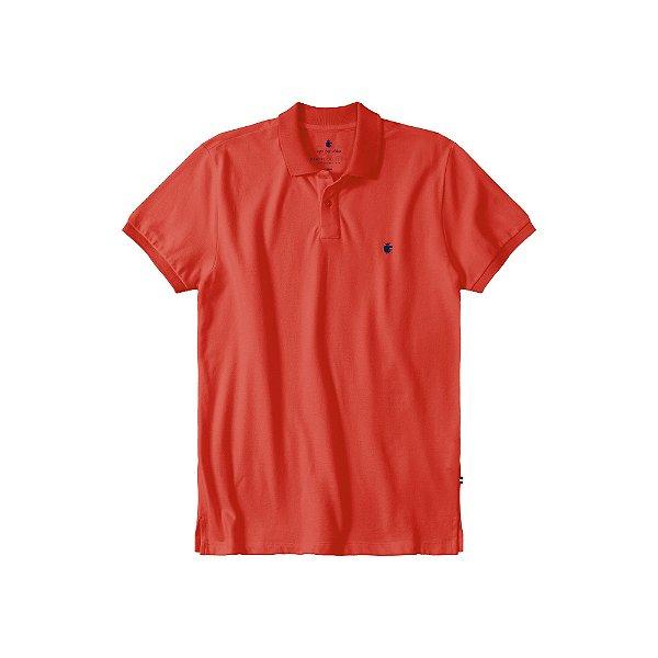 Camisa Polo Masculina Estonada Basis Stone - Vermelho