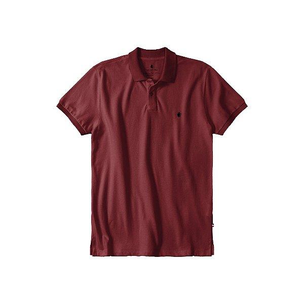 Camisa Polo Masculina Básica Von der Volke em Piquet - Bordo
