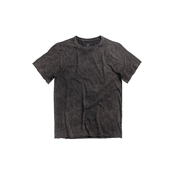 Camiseta Masculina manga curta Efeito Marmorizado - Preto