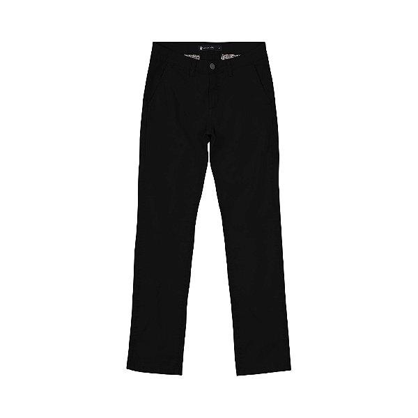 Calça de Sarja Masculina Skinny Chino Tulpen - Preto