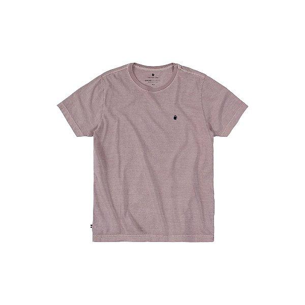 Camiseta básica masculina estonada gola redonda e manga curta - Rosa