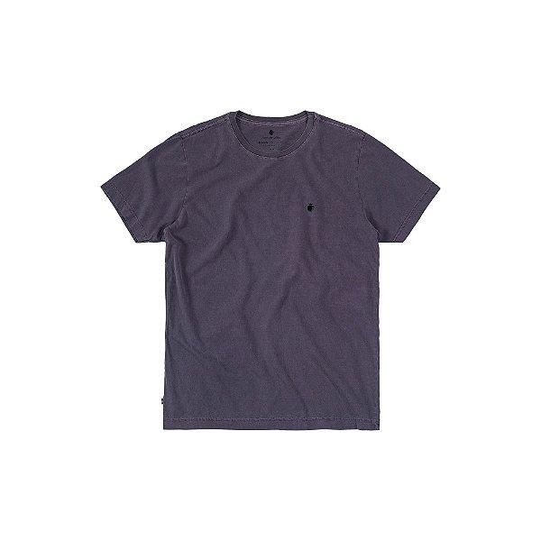 Camiseta básica masculina estonada gola redonda e manga curta - Ameixa