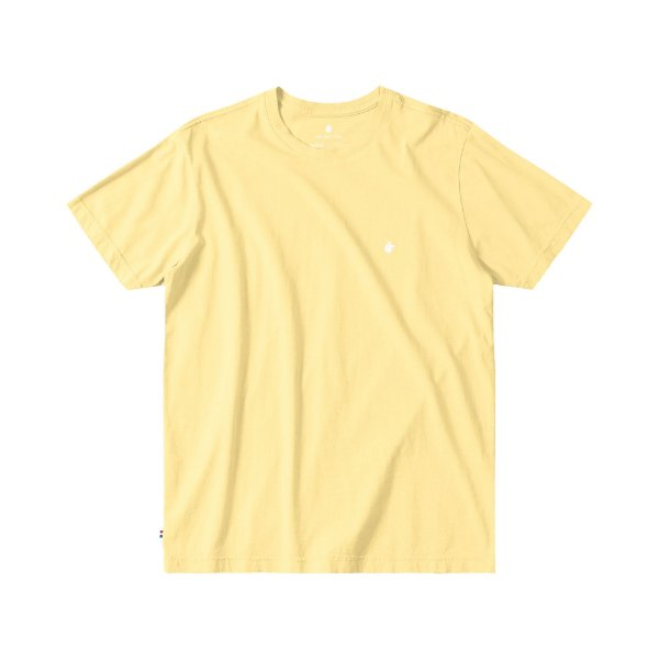 Camiseta Básica Masculina Manga Curta BASIS - AMARELO CLARO