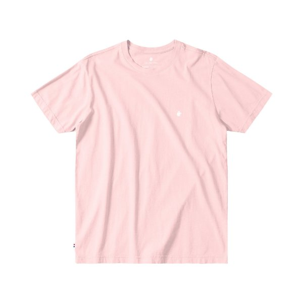 Camiseta Básica Masculina Manga Curta BASIS - ROSA CLARO