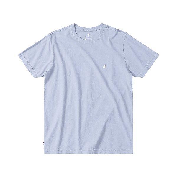 Camiseta Básica Masculina Manga Curta BASIS - AZUL CLARO