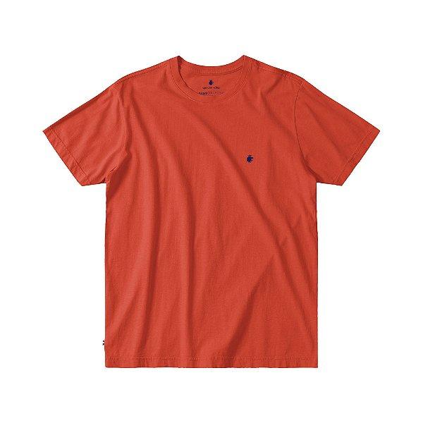 Camiseta Básica Masculina Manga Curta BASIS - VERMELHO