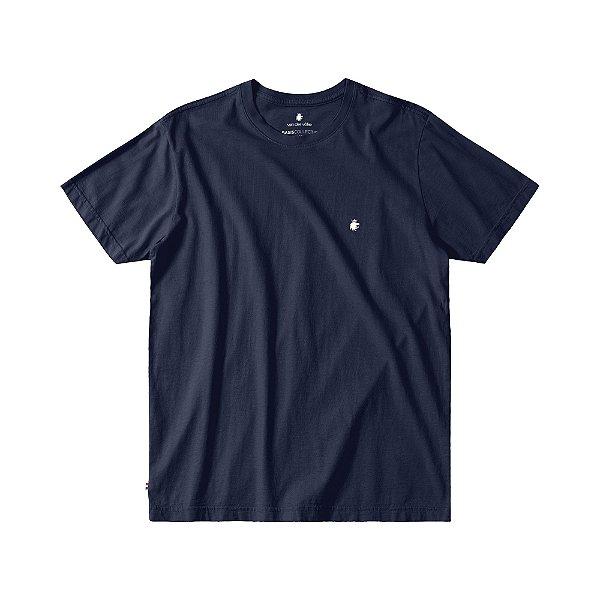Camiseta Básica Masculina Manga Curta BASIS - MARINHO