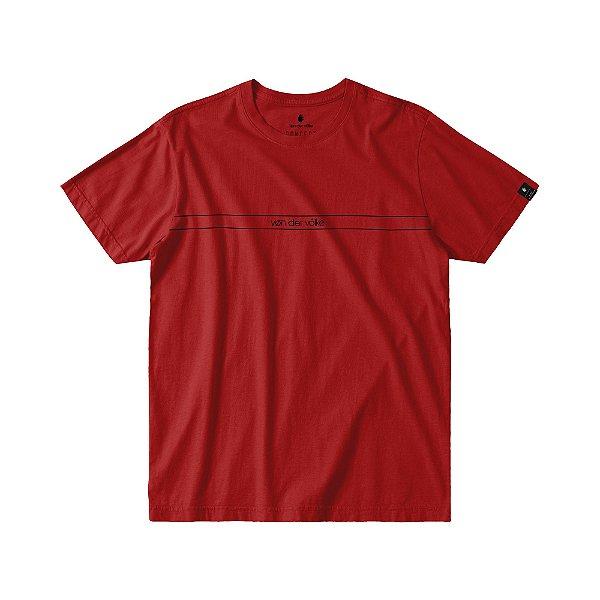 Camiseta Masculina Manga Curta ESSENTIAL - VERMELHO