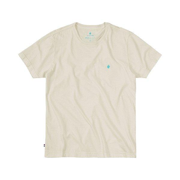 Camiseta Básica Masculina Estonada BASIS STONE - OFF WHITE