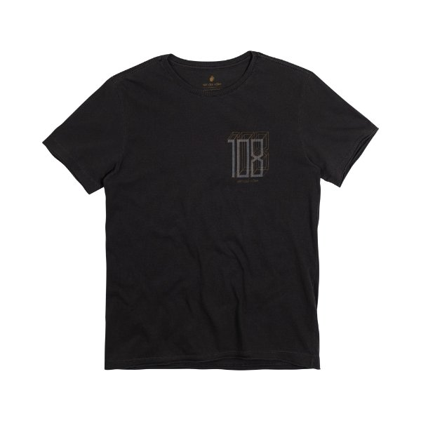 Camiseta Masculina Manga Curta NUMB3R 108 - PRETO