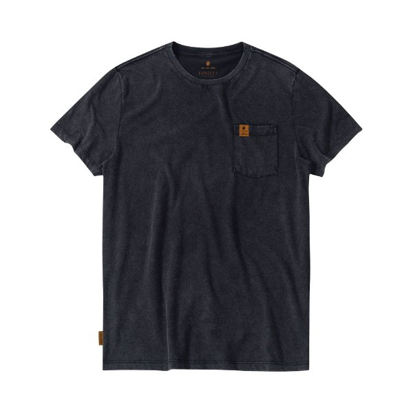Camiseta Masculina Manga Curta TRAVIS - PRETO