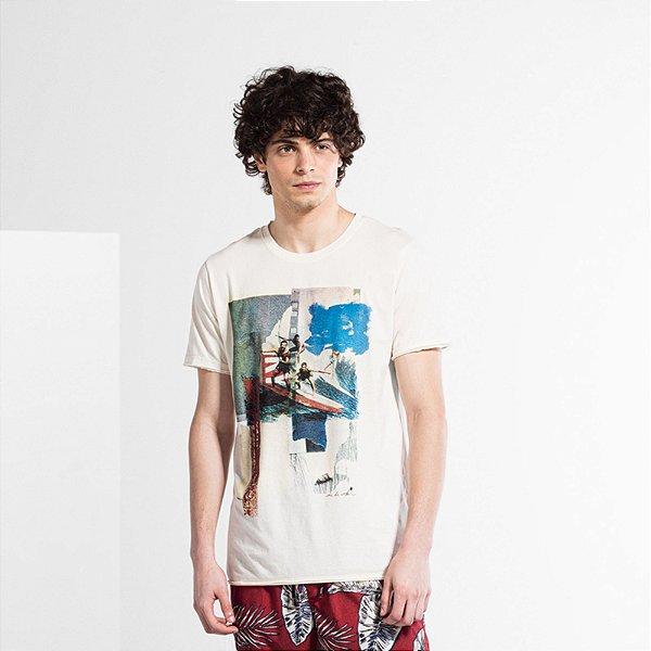 Camiseta Masculina Manga Curta SURF GANG - OFF WHITE