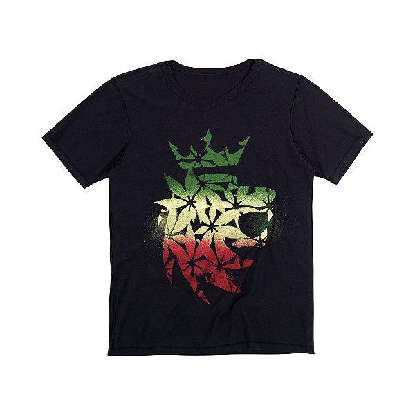 Camiseta Masculina Dupla Face DOUBLE FACE JAMAICA - PRETO
