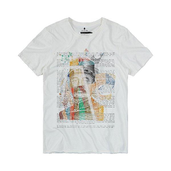Camiseta Masculina Manga Curta MR. VOLKE - OFF WHITE