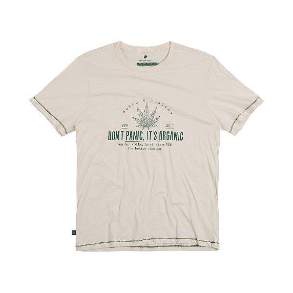 Camiseta Masculina em Malha Cânhamo ITS ORGANIC - NATURAL