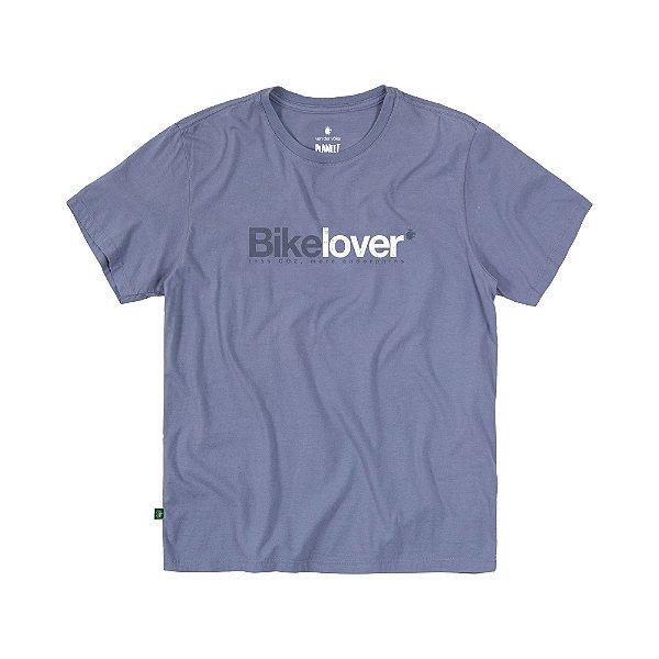 Camiseta Masculina em Tingimento Natural BIKE LOVER - AZUL CLARO