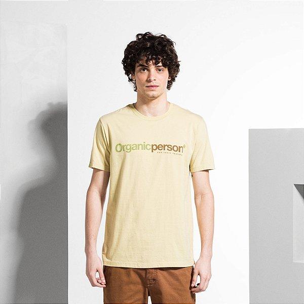 Camiseta Masculina em Tingimento Natural ORGANIC PERSON - AREIA