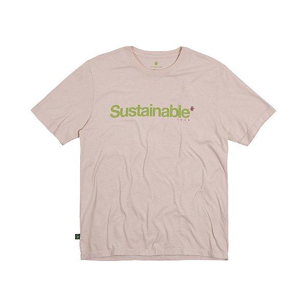 Camiseta Masculina em Tingimento Natural SUSTAINABLE - ROSA CLARO