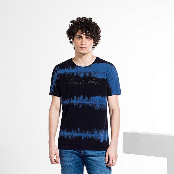 Camiseta Masculina em Tie Dye SPATULATE - PRETO