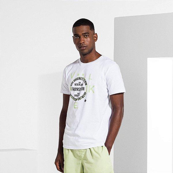 Camiseta Masculina Manga Curta ORIGINEEL ND - BRANCO