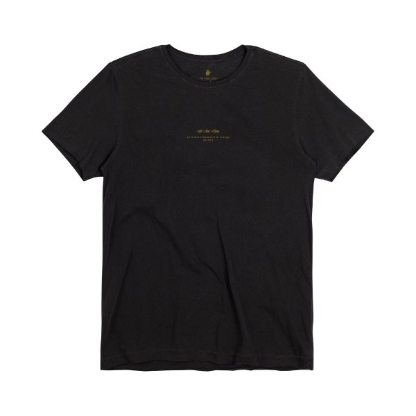 Camiseta Masculina Manga ART LION - PRETO