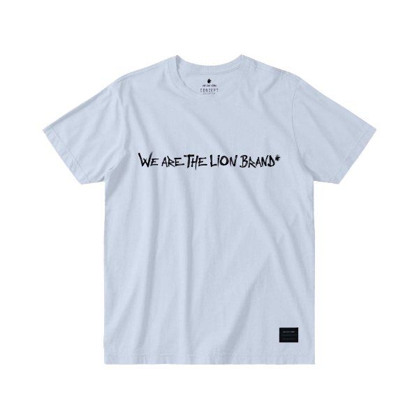 CAMISETA MASCULINA LETTERING WE ARE THE LION BRAND - BRANCO