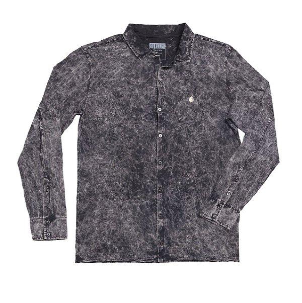 Camisa Malha Marmer Preto