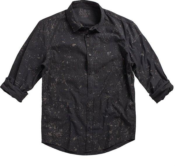 Camisa Chess Splash Preto