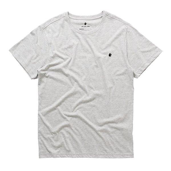 T-Shirt Basis Round Cinza Mescla