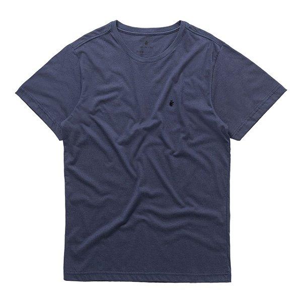 T-Shirt Basis Round Marinho