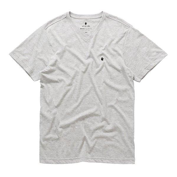 T-Shirt Basis V Cinza Mescla