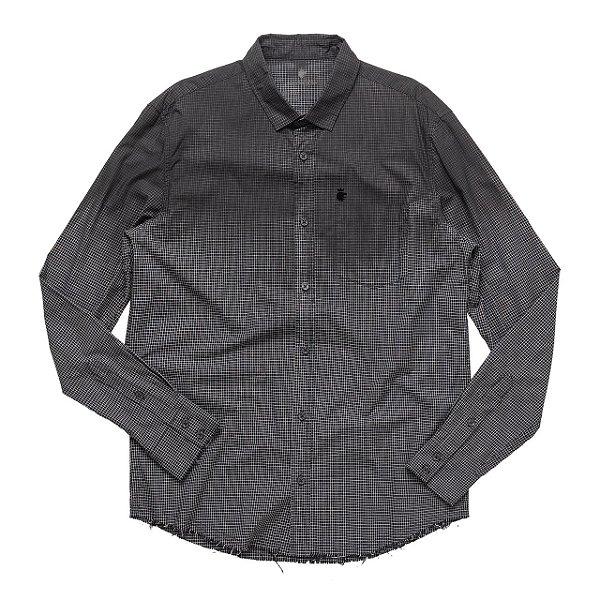 Camisa Acid Black Xadrez Preto