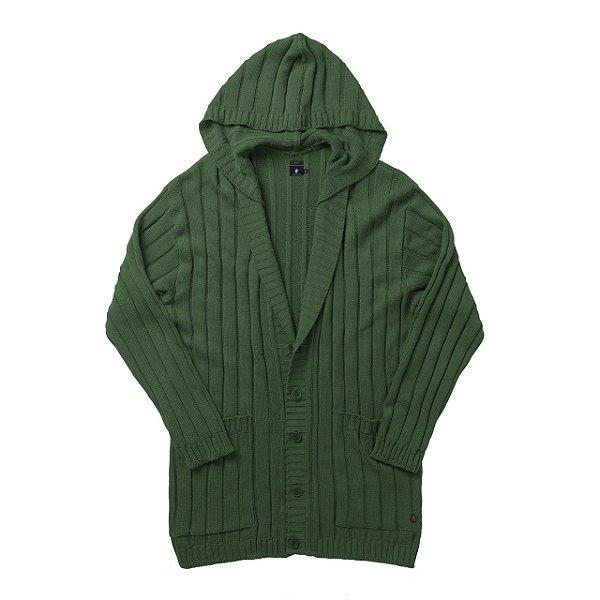 Casaco Tricot Long  Verde