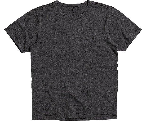 Camiseta Básica De Manga Curta E Gola Redonda - Preto