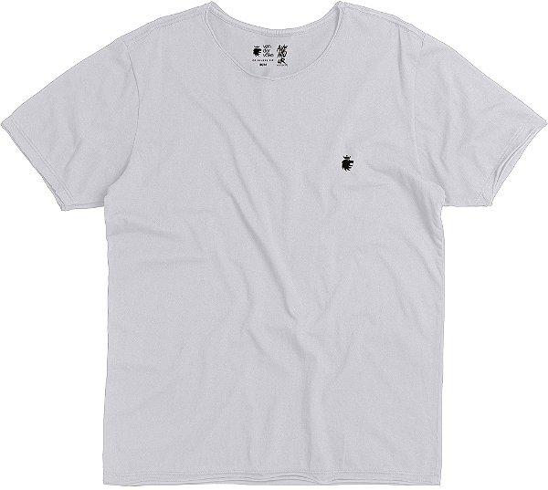 Camiseta Estampa Skate Gola Redonda Malha Algodão - Branco