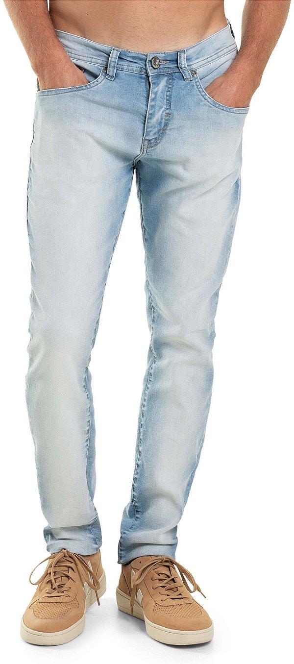 Calça Jeans Masculina Com Bolsos Modelagem Tradicional - Denim