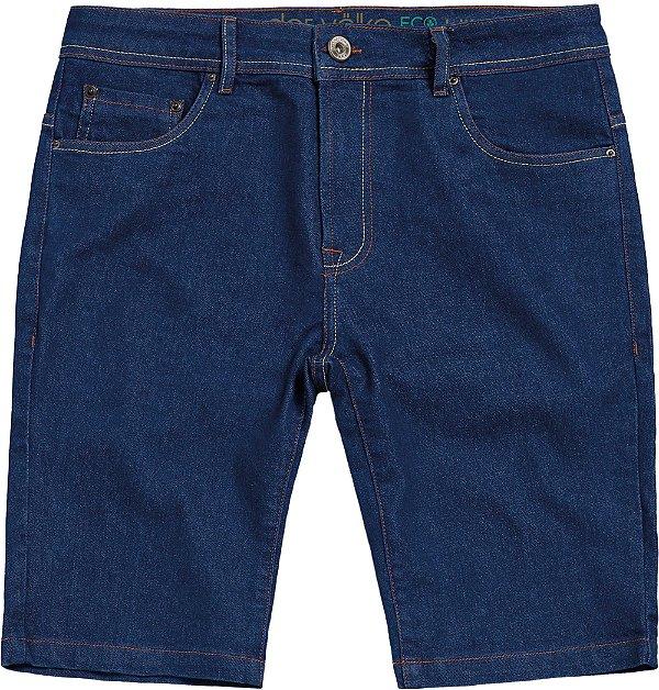 Bermuda Jeans Ecológico Masculina Com Bolsos - Denim