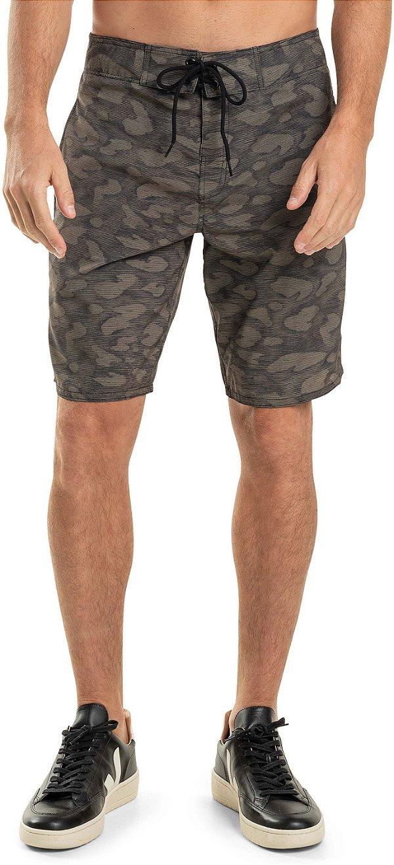 Bermuda Banho Masculina Estampa Militar Camuflada - Verde